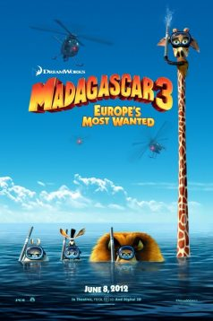 Madagaskar 3: Avrupa'nın En Çok Arananları 3D 1080p izle